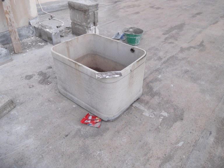 Rimozione vasca in amianto